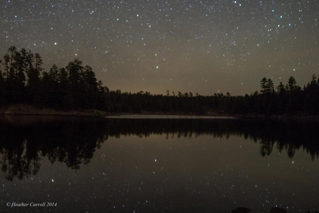Shooting Star over Lake