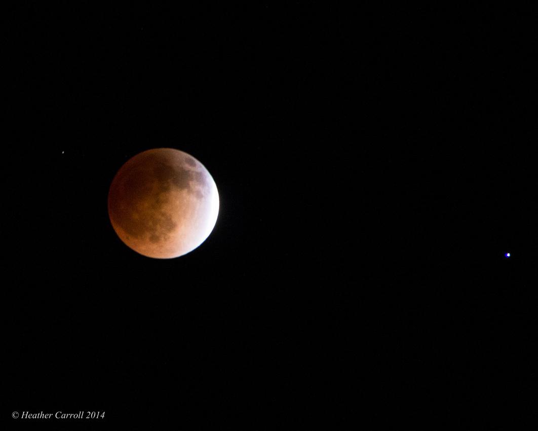 Blood Moon partial eclipse